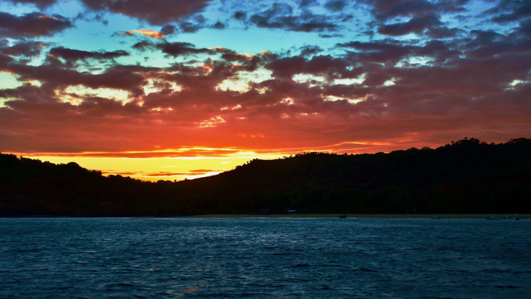 Coucher de soleil îles Mitsio