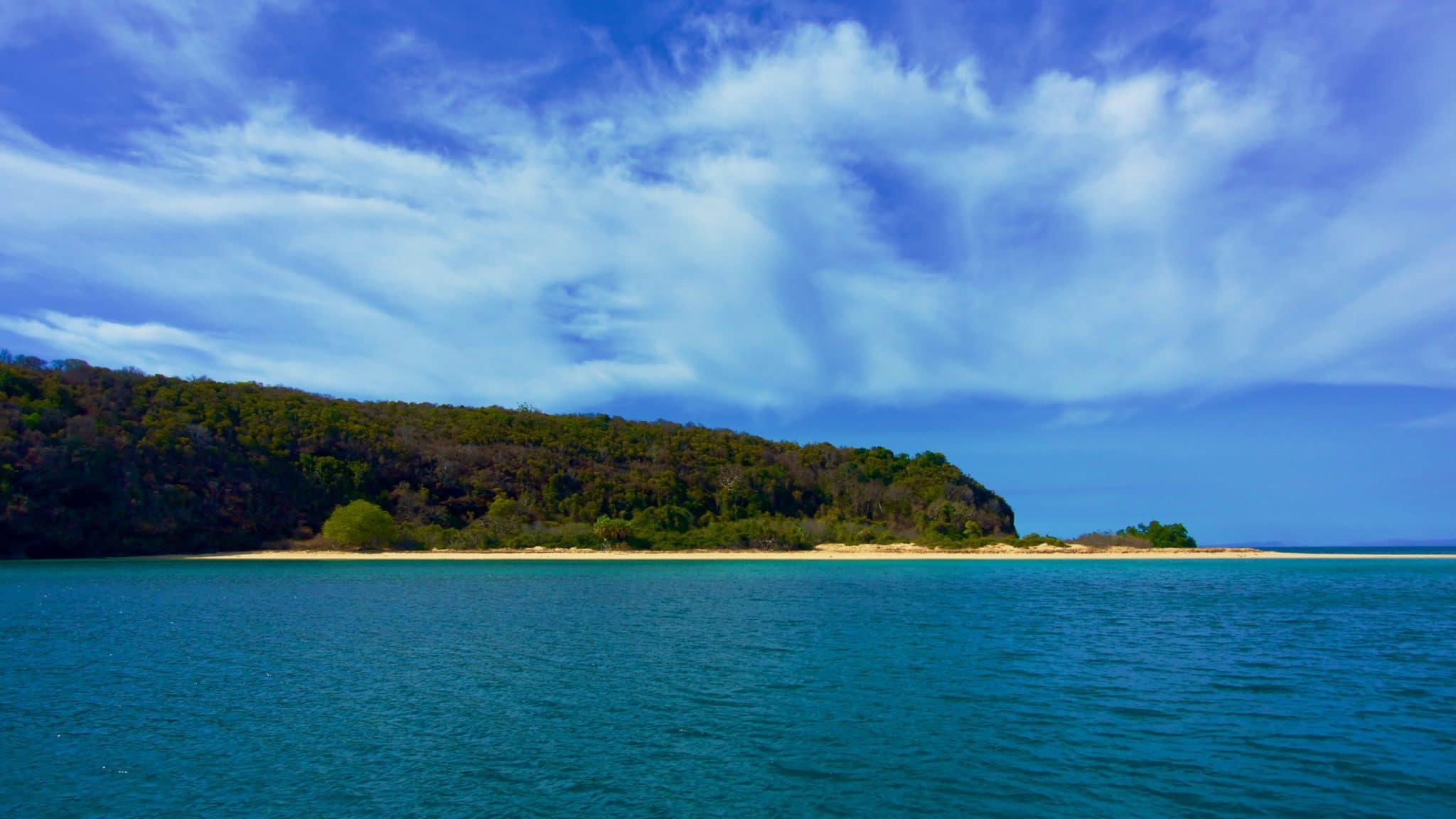 Les îles Mitsio plage