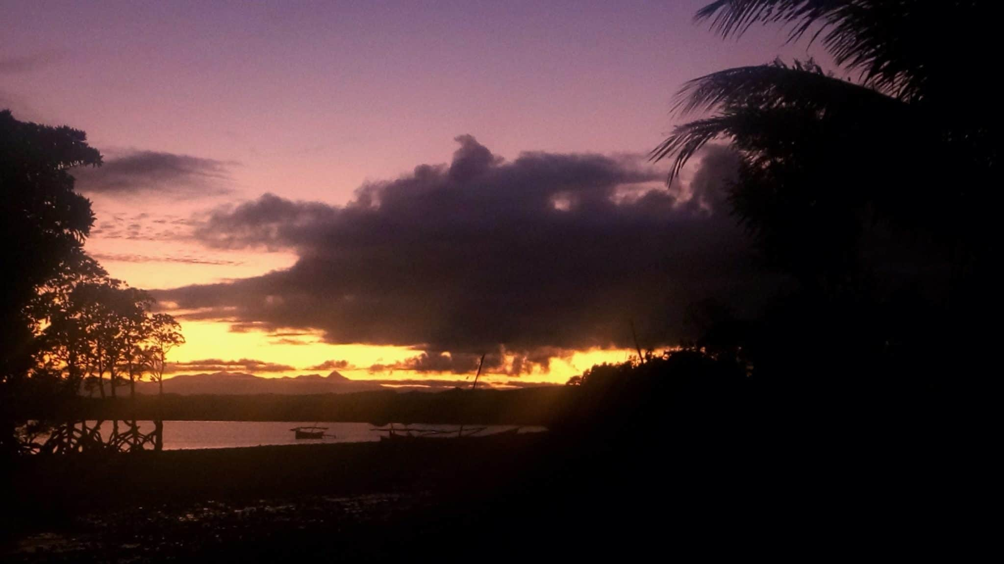 Coucher de soleil îles Radama Madagascar
